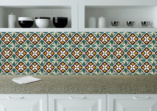 Tile stickers Kitchen Authentic Spanish tiles Bathroom tiles Set of 20 Tiles Decals wall Tiles Stickers V11