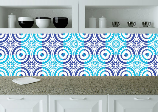 Portuguese Tiles Stickers Set of 24 Decals Spanish mural Tiles mixed wall decal Kitchen Bath tile Gentle k202