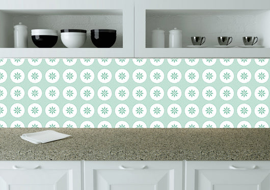 Tile Stickers Bath tile Mexican Set of 20 Tiles green Decals wall mural Kitchen tiles K8