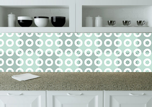 Portuguese Tiles Stickers Set of 24 Decals Spanish Tiles Stickers mixed Tiles walls Kitchen Bath tile Gentle k201