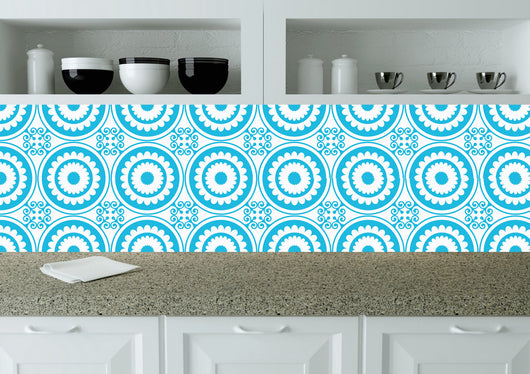 Tile Stickers Bath tile Mexican Set of 20 BLUE Tiles Decals wall mural Kitchen tiles stickers carrelage K11