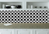 Black and white Tile Stickers bathroom decals Mexican tile  Set of 20 Decals wall mural Kitchen decals K13