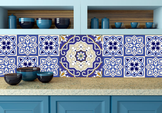 Tavalera Mexican Tile Set of 20 Tiles Decals Tiles Stickers Tiles for walls Kitchen decals Bathroom decals wall decals n3