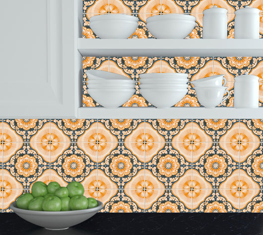 Set of 20 Tiles Decals Tiles Stickers Tiles for walls Kitchen Bathroom spanish Mexican tile H1