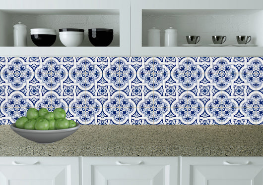 Set of 24 Tile stickers Bathroom Mexican Tile wall Decals home decoration Tiles Stickers tile Kitchen decals H20