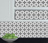 Tiles Decals Set of 24 Black & white home design decoration wall Tiles Stickers tile decal Kitchen Portuguese BKW7