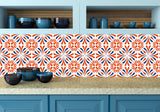 Set of 24 orange Tile Stickers kitchen Decals Tiles Stickers Tiles for walls Kitchen decals Bathroom decals K21