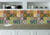 Splashback 24 tile stickers Mexican tile stickers mixed for walls Kitchendecals  bathroom Stair decals C