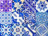 Set of 24 tile stickers Mexican Talavera style stickers mixed for walls Kitchen bathroom Stair decals V16