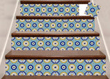 Set of 24 tile stickers Mexican Talavera style stickers for walls Kitchen bathroom murals decals Stair decals C42