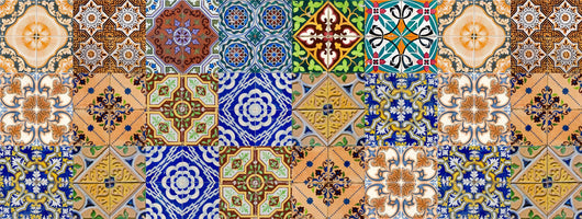 Set of 12*2 (24 pc)  tile stickers Mexican Talavera style Splashback stickers mixed for walls Kitchen bathroom Stair decals HA6