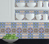 Set of 24 tile stickers Mexican Talavera style Splashback stickers mixed for walls Kitchen decals bathroom Stair decals H404