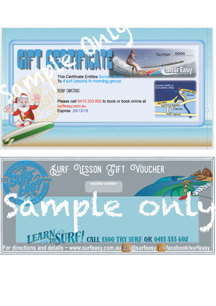 surf easy samply gift vouchers