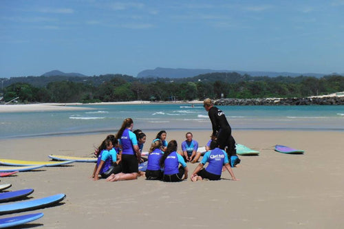Student Surf Lessons Buy 3 get one Free (Group Lessons)