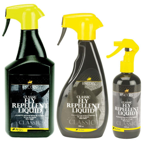 Lincoln Classic Fly Repellent Spray with DEET and Lemongrass Oil