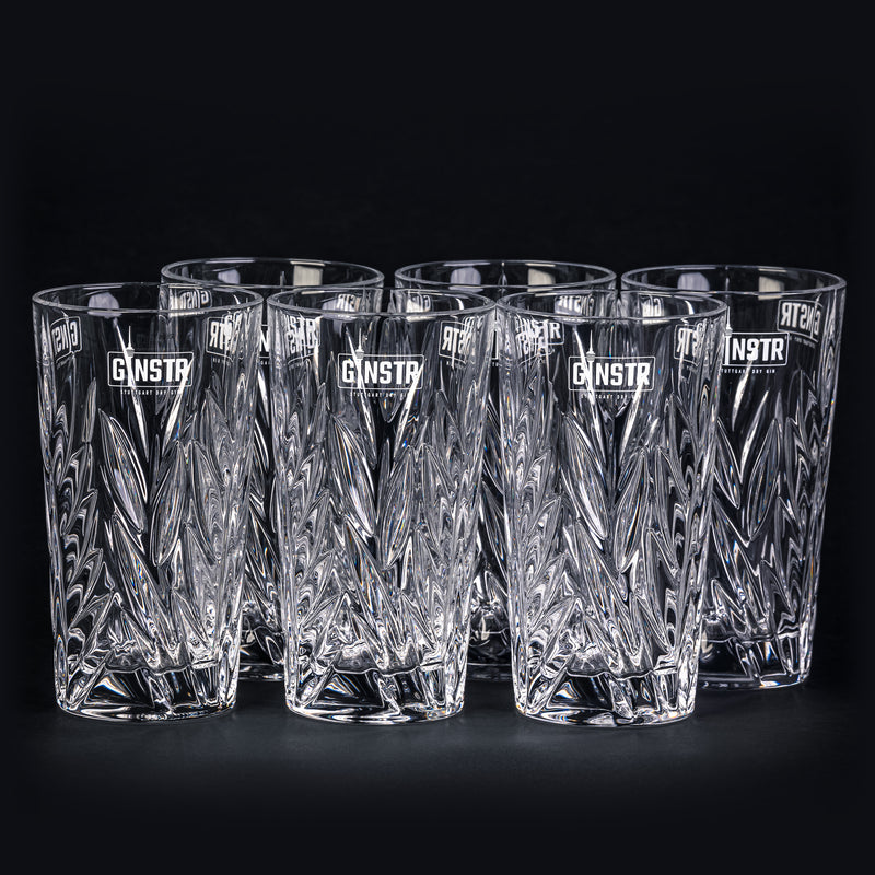 Six original GINSTR crystal glasses (5 + 1 action)