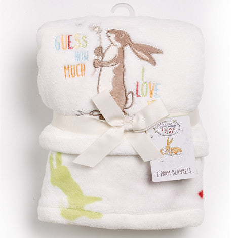 Guess How Much I Love You Boa Pram Blanket Set - minimuslimplayground