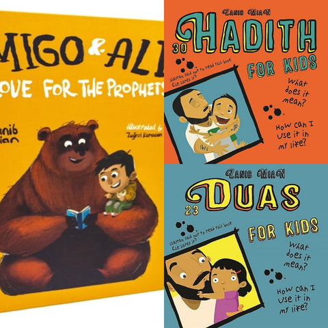 Best Seller Book Bundle - Migo and Ali, 30 Hadith and 23 Duas - minimuslimplayground