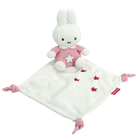 Miffy Pink Comfort Blanket in Pink and Denim - minimuslimplayground
