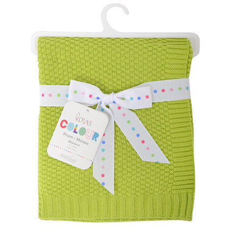 Silvercloud Cotton Blanket Lime - minimuslimplayground