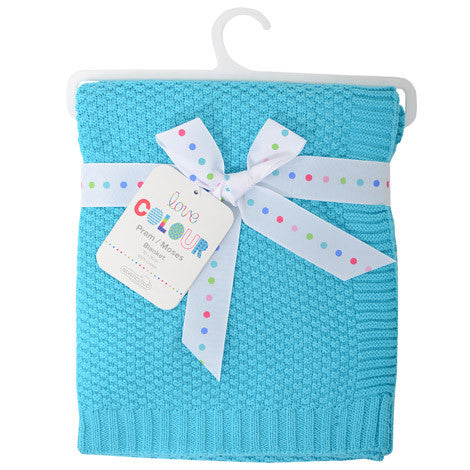 Silvercloud Cotton Blanket Turquoise - minimuslimplayground