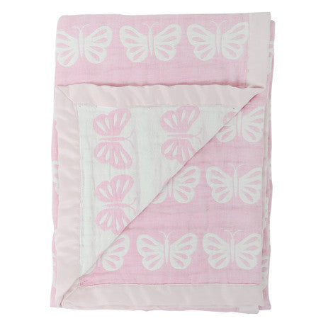 Silvercloud Double Sided Muslin Blanket Butterfly - minimuslimplayground