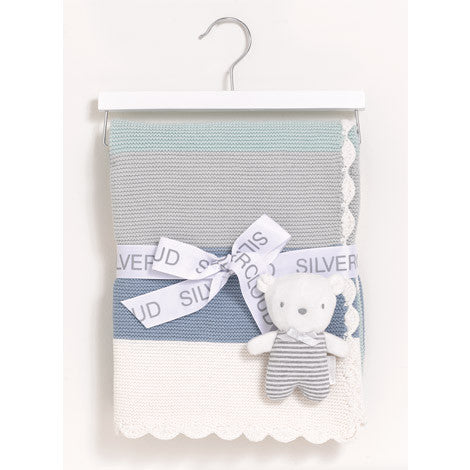 Silvercloud Made With Love Blanket & Baby Bear Gift Set - minimuslimplayground