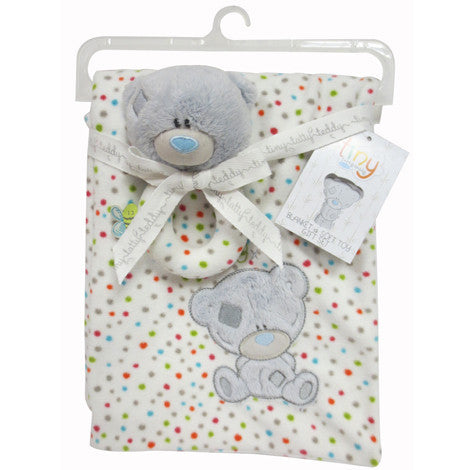 Tiny Tatty Teddy Blanket and Toy Set - minimuslimplayground