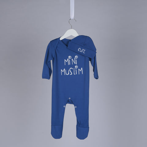 Cute Mini Muslim Islamic Baby Gift Set in Royal Blue - minimuslimplayground
