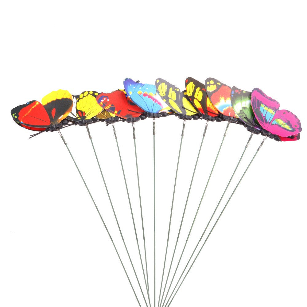 20pcs 7cm 3D Artificial Butterfly Pin C Double Wing for Home Christmas Wedd Q0K6