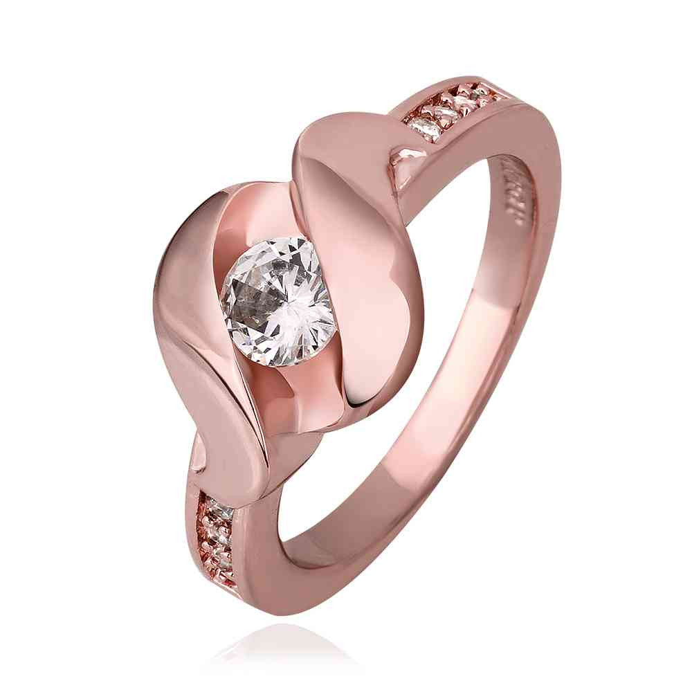 jewerly anillos 18K GP sssd rose color party wedding rings girl ...