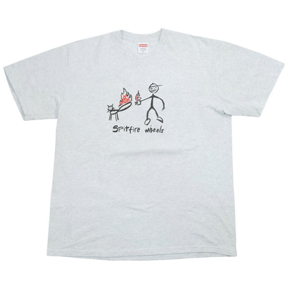 "SUPREME SPIT FIRE TEE ""ASH GREY"""