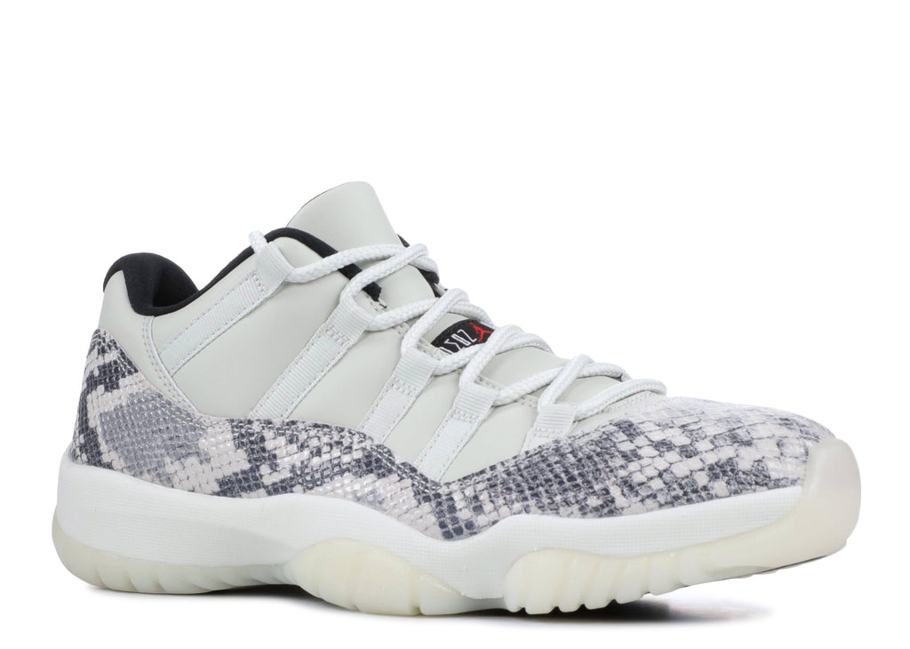 "AIR JORDAN 11 LOW ""LIGHT BONE SNAKESKIN"""