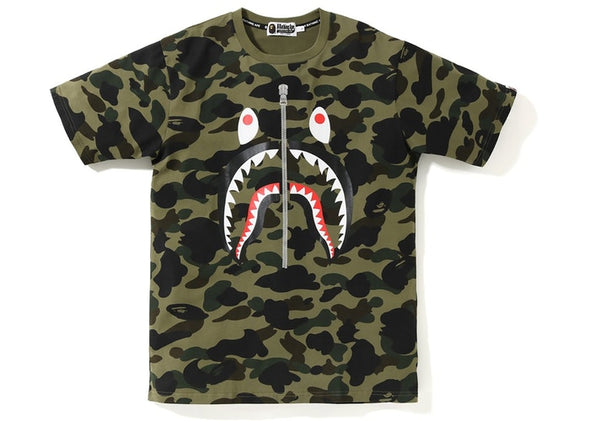 "BAPE SHARK TEE ""GREEN CAMO"""