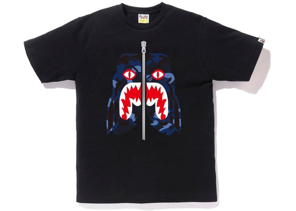 "BAPE BLUE CAMO TIGER TEE ""BLACK/BLUE"""