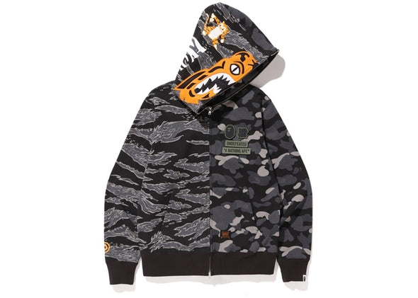BAPE X UNDEFEATED SHARK HOODIE ''BLACK''