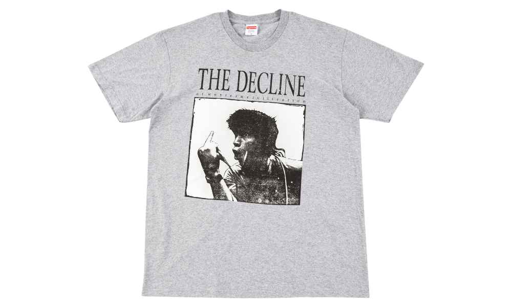 "SUPREME DECLINE OF WESTERN TEE ""GREY"""