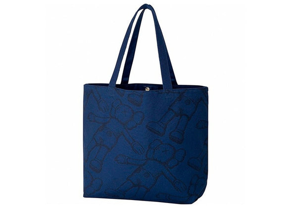 KAWS X UNIQULO ALL OVER HOLIDAY TOTE 'NAVY'