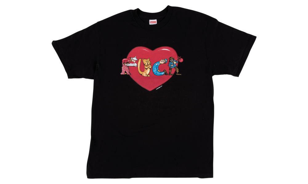 "SUPREME FUCK LOVE TEE ""BLACK"""