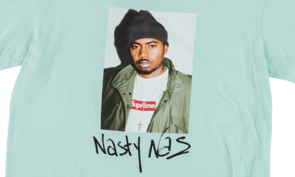 "SUPREME NASTY NAS TEE ""PALE BLUE"""