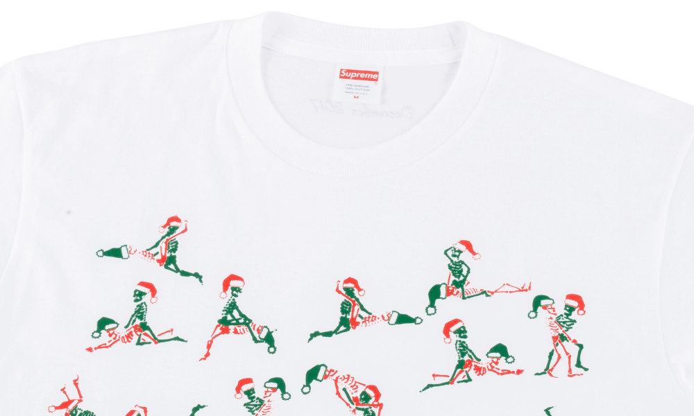 "SUPREME CHRISTMAS TEE ""WHITE"""