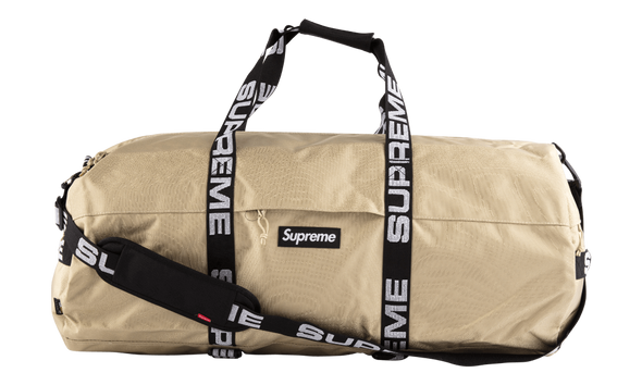 "SUPREME LARGE DUFFLE BAG TAN ""SS18"""