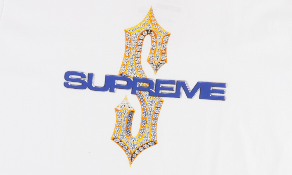 "SUPREME DIAMOND TEE ""WHITE"""