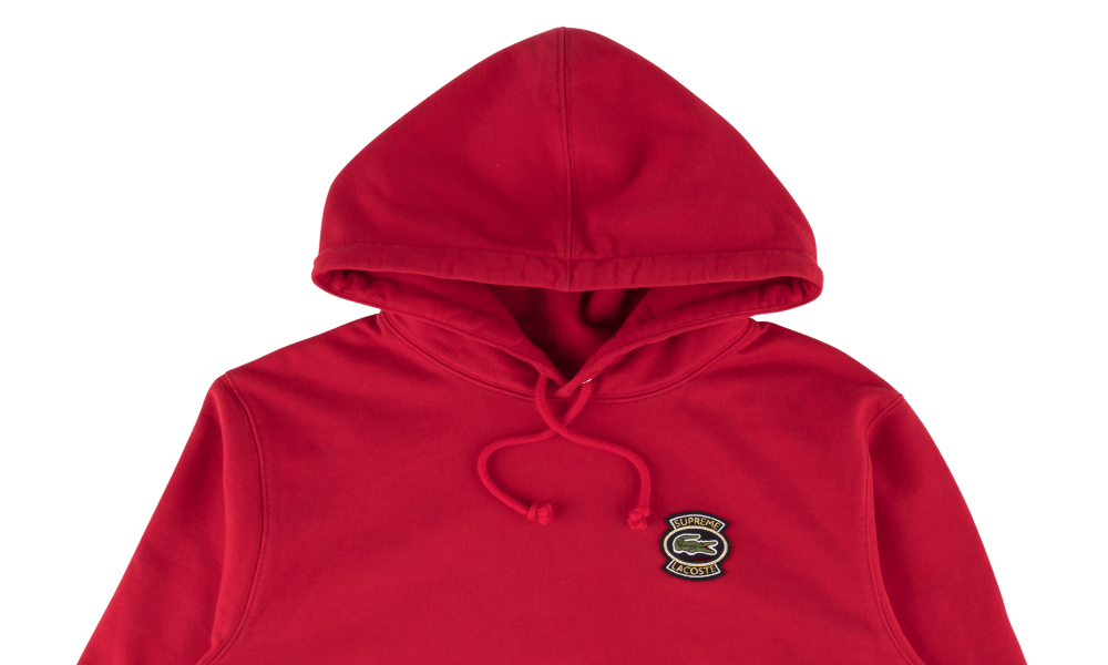 "SUPREME x LACOSTE SWEATSHIRT ""RED"""