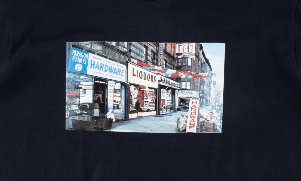 "SUPREME HARDWARE TEE ""NAVY"""