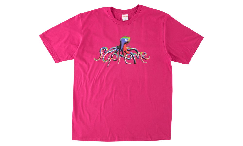 "SUPREME TENTACLES TEE ""HOT PINK"""