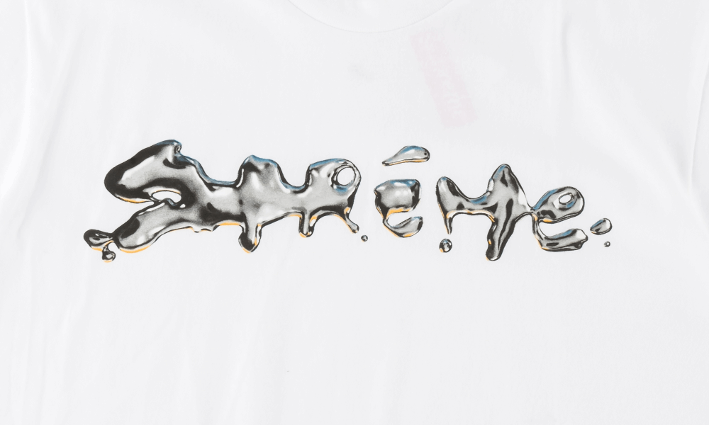 SUPREME LIQUID TEE ''WHITE''