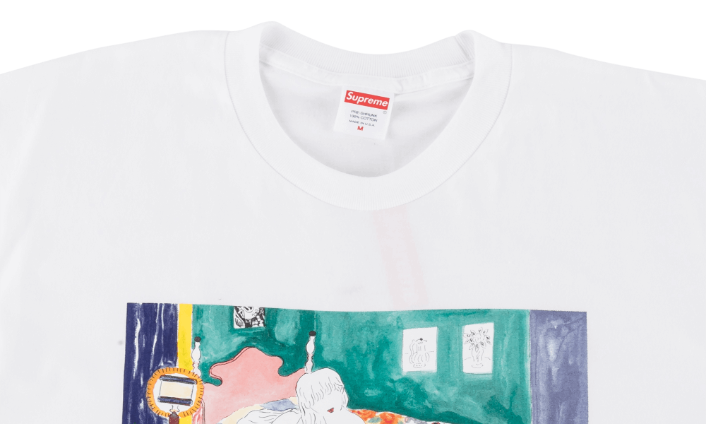 "SUPREME BEDROOM TEE ""WHITE"""
