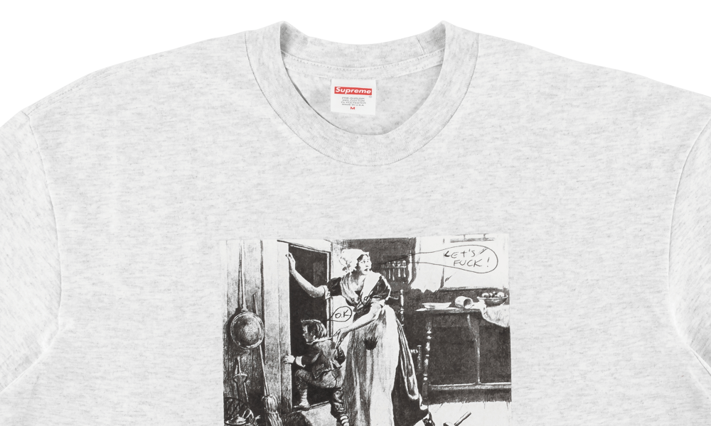 SUPREME MIKE KELLEY HIDING FROM INDIAN TEE ''ASH GREY''