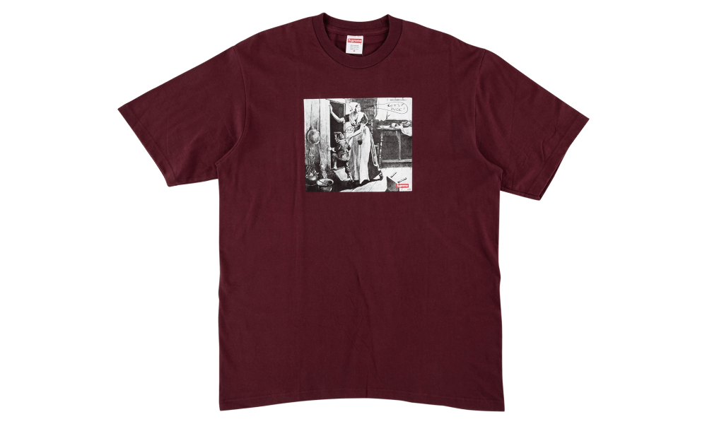 "SUPREME x MIKE KELLEY HIDING FROM INDIANS TEE ""BURGUNDY"""